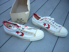 Vintage Converse POLY 500 Red & White Mens Oxford 10.5 w/ Box RARE NEVER WORN