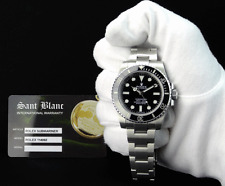 ROLEX - 40mm Stainless SUBMARINER - Black Ceramic Black Dial 114060 - SANT BLANC