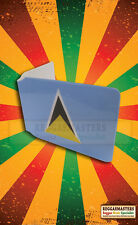 St Lucia Print Buspass Travel Card Plastic Wallet ROOTS & CULTURE