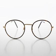 Round Gold Tortoiseshell Wrapped Polo Style Vintage Glasses Brown-EINSTEIN