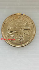 Raro - 1990 * UNC * Gibraltar Cannon £ 2 dos libras moneda