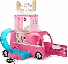 Bestselling Barbie Pop-Up Camper Vehicle - Convertible RV Hammock Bathroom