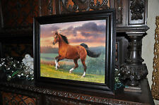 spectacular Vintage original Horse painting well known artist