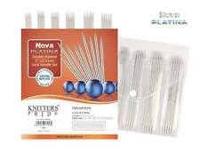"Knitter's Pride ::Nova Platina Double Pointed 5"" Sock Needle Set:: 0-3 US"
