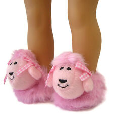 "POODLE Slippers!!! Too CUTE!!! for American Girl 18"" Doll Clothes"