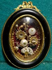Antiq 19th CENT. WOOD & METAL FRAME MULTI RELIQUARY w/ 2 SAINTS RELICS