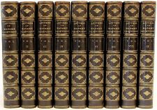 Letters of Madame De Sevigne - 9 vols - 1811 - IN A FINE LEATHER BINDING!