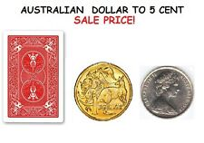 Magic Australian Dollar Lethal coin / Dollar coin transforms to a 5cent coin