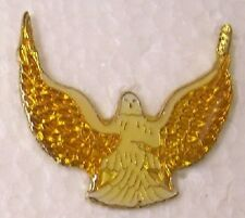 Hat Lapel Pin Scarf Clasp Bird Golden Wings Extended NEW