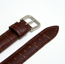 18mm Brown Genuine Leather Watch Strap Band Made for Guess