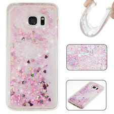 For iPhone Samsung LG Huawei Bling Liquid Glitter Sparkly Stars Bling Case Cover