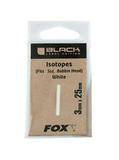 FOX BLACK LABEL EDITION ISOTOPES WHITE FITS STD. BOBBIN HEAD 3X25MM CARP FISHING