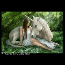 *PURE HEART* Fantasy Unicorn Art 3D Postcard By Anne Stokes (15x10cm)