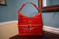 Dooney & Bourke Red Croco Leather Zipper Handbag - New w/ Bag Case