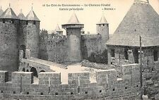BF6868 le chateau feodal entree principale carcassone france       France