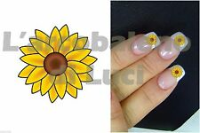 20 ADESIVI UNGHIE NAILS STICKERS GIRASOLE SUNFLOWER FIORI NAIL ART DECORAZIONE