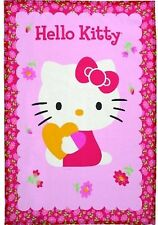 MERI MERI HELLO KITTY CAT PINK COTTON TEA TOWEL HEART FLOWERS CUTE KAWAII GIFT