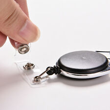 Retractable Reel Recoil ID Badge Lanyard Name Tag Key Card Holder Belt Clip Hot