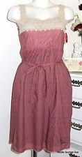 Vive Maria Kleid Summer Mosaik Dress S 36 Berry Cotton Red Rot Blumen Muster
