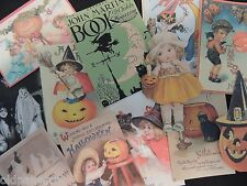 Lot of 12 Adorable VINTAGE HALLOWEEN DIE CUTS 4 CRAFTS || H45 || Ships FREE