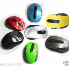 2.4GHz Wireless Cordless Optical Colour Mouse PC Computer Laptop With USB Dongle