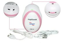 FDA AngelSound Ultrasound Fetal Doppler Prenatal Baby Heart Sound Monitor Pink