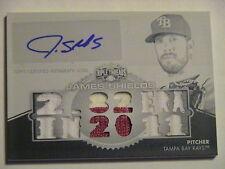 2012 Topps Triple Threads James Shields Kansas City Royals GU Relic Auto 1/1