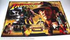 INDIANA JONES By STERN NOS ORIG PINBALL MACHINE TRANSLITE BACKGLASS SHEET 2007