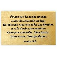 Isaiah 9:6 in Spanish, mounted rubber stamp, Christian Christmas bible verse #21