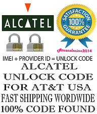 FOR TELUS/KOODO Alcatel A392a ALCATEL UNLOCK CODE