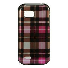 For T-Mobile LG myTouch Q HARD Case Snap on Phone Cover Hot Pink Checker
