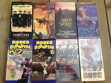 Lot 8 Western VHS - Lonesome Dove, Dances w/ Wolves, Rodeo Bloopers, Tombstone