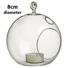 50 *8cm Small Glass Bubble Ball Hanging candle holder wedding centrepiece BULK B