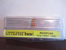 Pack Of 5 Littelfuse Tracor Picofuse 10A 125V (255) Resistors NIB