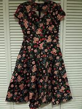 NWT Voodoo Vixen Blooming Cherry Flare Dress Pin-Up Rockabilly Sz L Measurements