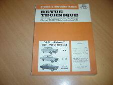 Revue Technique automobile Opel Rekord