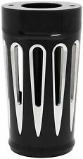 Arlen Ness - 20-014 - Retro Fork Boot Covers, Deep Cut - Black