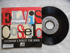 """45T 7"""" ELVIS COSTELLO AND THE ATTRACTIONS """"Everyday I write the book"""" RCA µ"""