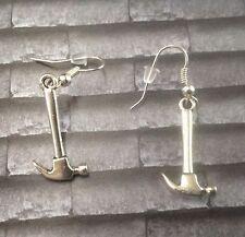 Pink Floyd Hammer 925 Silver Hooped Earrings
