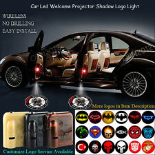 2x Wireless LED Car Door Courtesy Ground Welcome Shadow Light 3D ZOMBIE OUTBREAK
