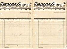 2 x Rechnung Torpedo Freilauf Fahrrad 1933 ! (D1