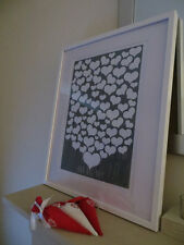 Personalised Heart wedding guest book alternative (A3) with 80 Hearts