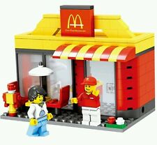 City scene McDonald's minifigures bricks building blocks construction lego