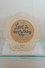 LOVE IS EVERYTHING PLAQUE~NEW HALLMARK~2015~METAL FRAME~FREE US SHIPPING~