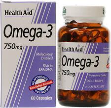 HEALTH AID OMEGA-3 750MG - 60 CAPSULES