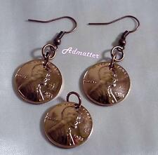 1966 50TH BIRTHDAY PENNY EARRINGS & PENDANT/CHARM SET COPPER JEWELRY ANNIVERSARY