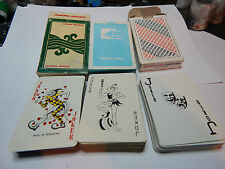 3 decks of airline playing cards Cathay pacific, American Airline and Pan Am