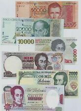 VENEZUELA OLD FULL SET***BANCO CENTRAL VENEZUELA***1000/50000 BOLIVAR***UNC GEM