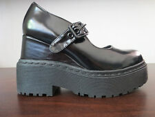 Womens JEFFREY CAMPBELL LARAINE black Mary Jane platform shoes sz. 7,5M