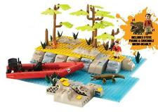 DEADLY 60 - River Crossing Playset 172 Piece Block Set (Character Group) #NEW